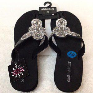 NWT- Olivia Miller Womens Olinda Sandals (Size:10)